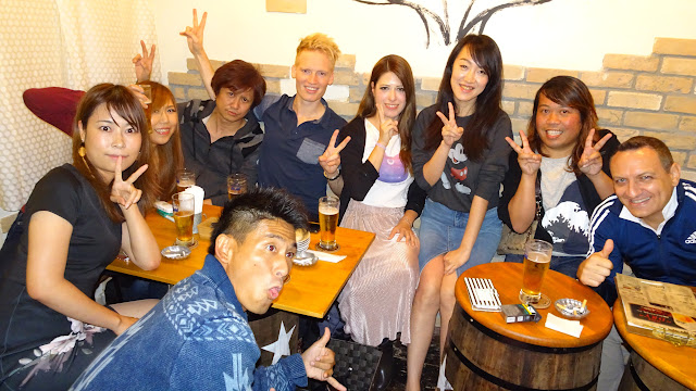 meeting my Japanese friends at the ParaPara dinner party in Tokyo in Tokyo, Tokyo, Japan