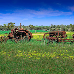 Farm tractor by Mark Molinari - Transportation Other ( wave rock )