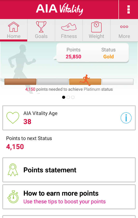 AIA Vitality Hong Kong- screenshot