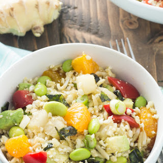 Asian Cauliflower Rice Salad
