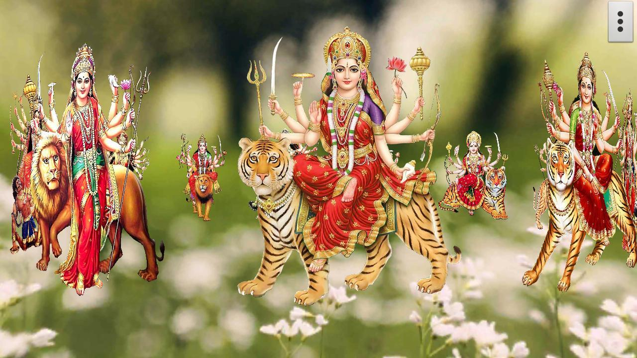 Wallpaper download karne wala apps - 4d Maa Durga Live Wallpaper Screenshot