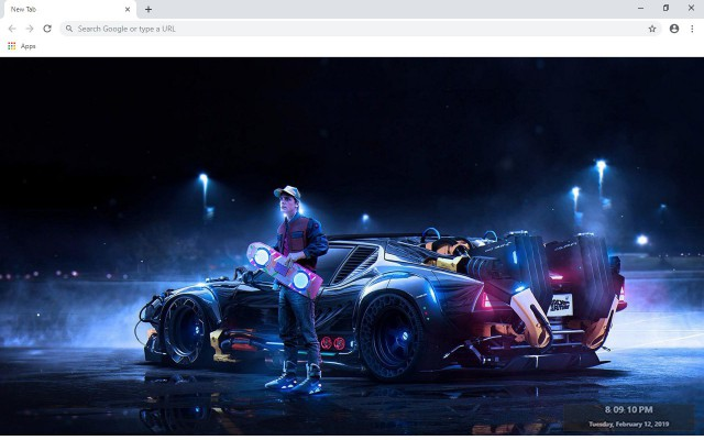 Back to the Future New Tab