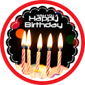 Happy Birthday wish card icon