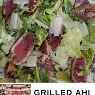 Grilled Ahi Tuna Salad with Easy Low Fat Dressing.
