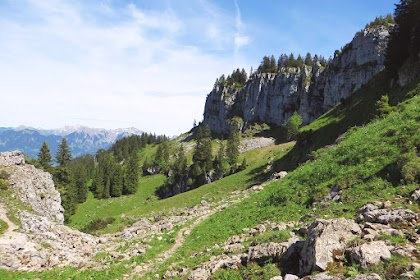 Blick zum Besler Gipfel Obermaiselstein Allgäu