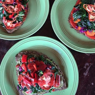 Hearty Epic Raw Vegan Pizza