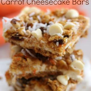 White Chocolate Carrot Cheesecake Bars
