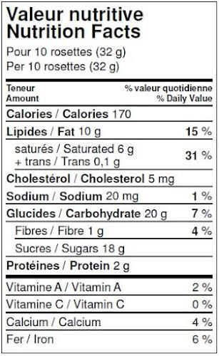 Rosettes de chocolat au lait