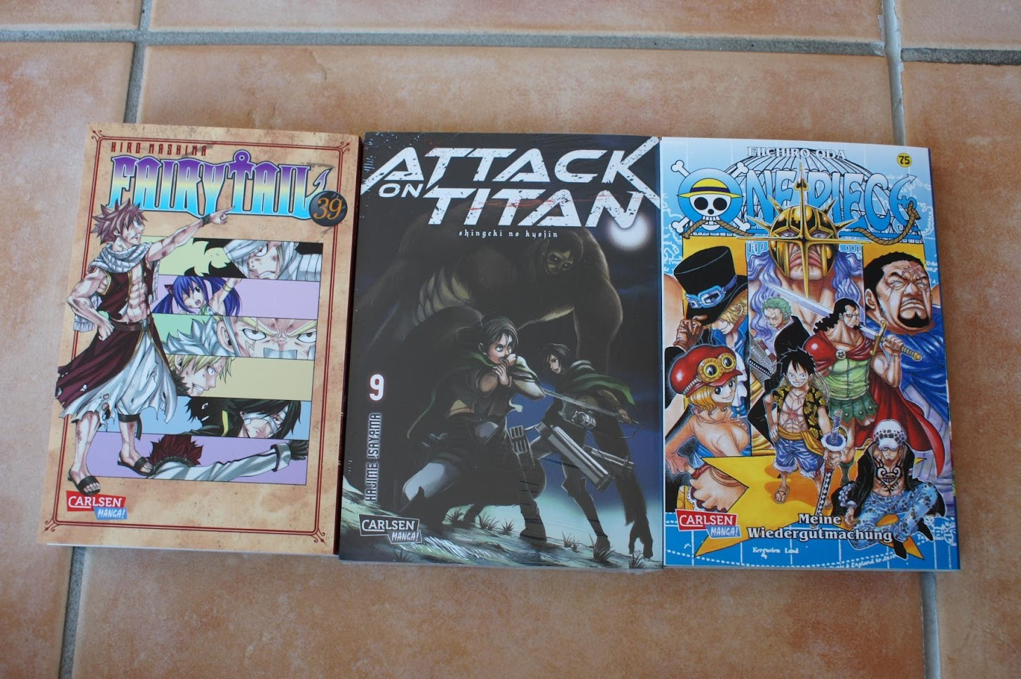 Carlsen Manga Fairy Tail Attack on Titan One Piece