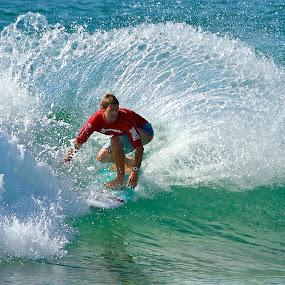 Circular Spray by Julie Steele - Sports & Fitness Surfing ( turn, spray, steele, surf )