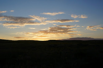 Photo: At Lake Minatare State Recreation Area, we awoke to a beautiful sunrise.