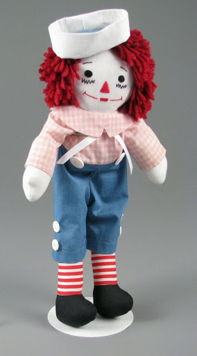 Doll:Handmade Raggedy Andy with Pink Shirt