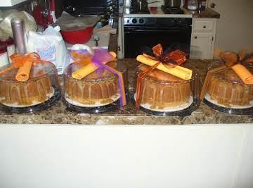 Carmel Sour Cream Pound Cake