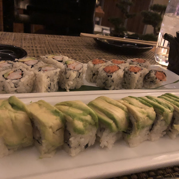 California roll, spicy tuna roll, and senshi. All good, but the senshi was my favorite!