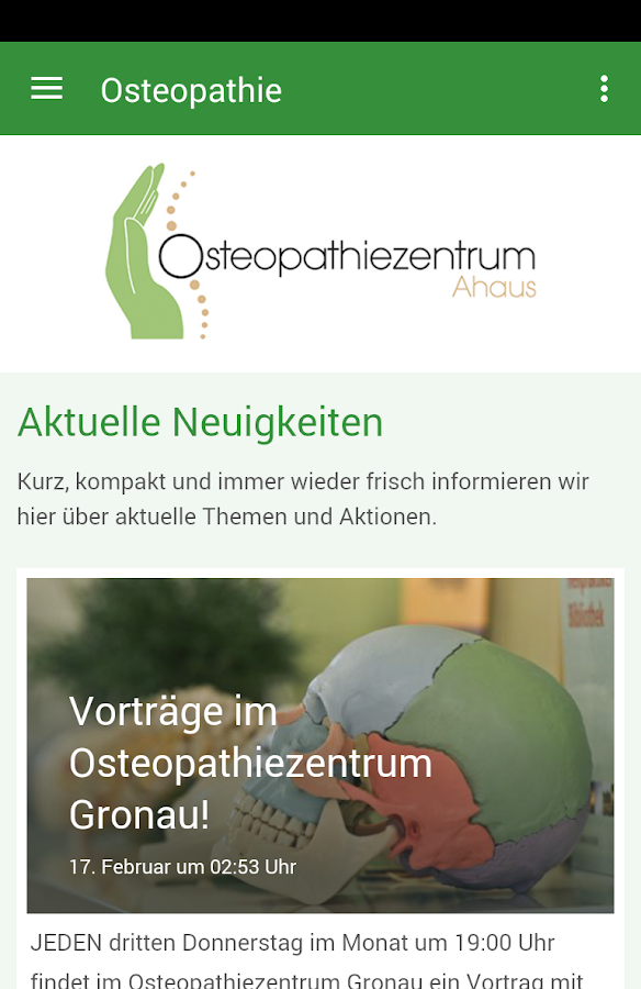 Osteopathiezentrum Ahaus- screenshot
