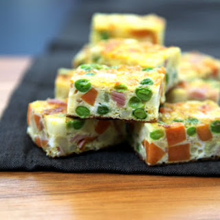 Spanish Omelette with Peas, Potato, Prosciutto & Saffron Recipe