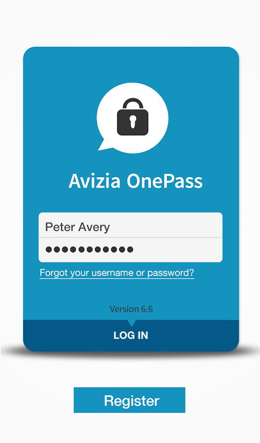 Avizia OnePass- screenshot