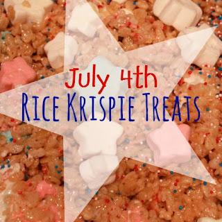 July 4th Rice Krispie Treats