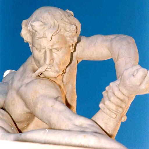 les lutteurs felix chartentier Bollène après restauration
