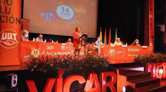Carmen Vidal es reelegida secretaria de UGT Almería