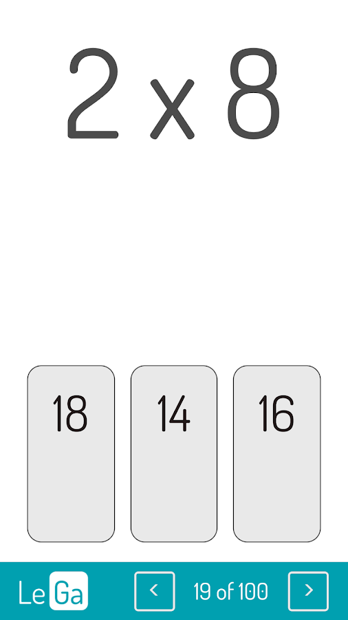 LeGa - YouTube multiplication table- screenshot