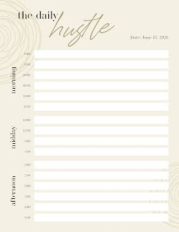The Daily Hustle - Daily Calendar item