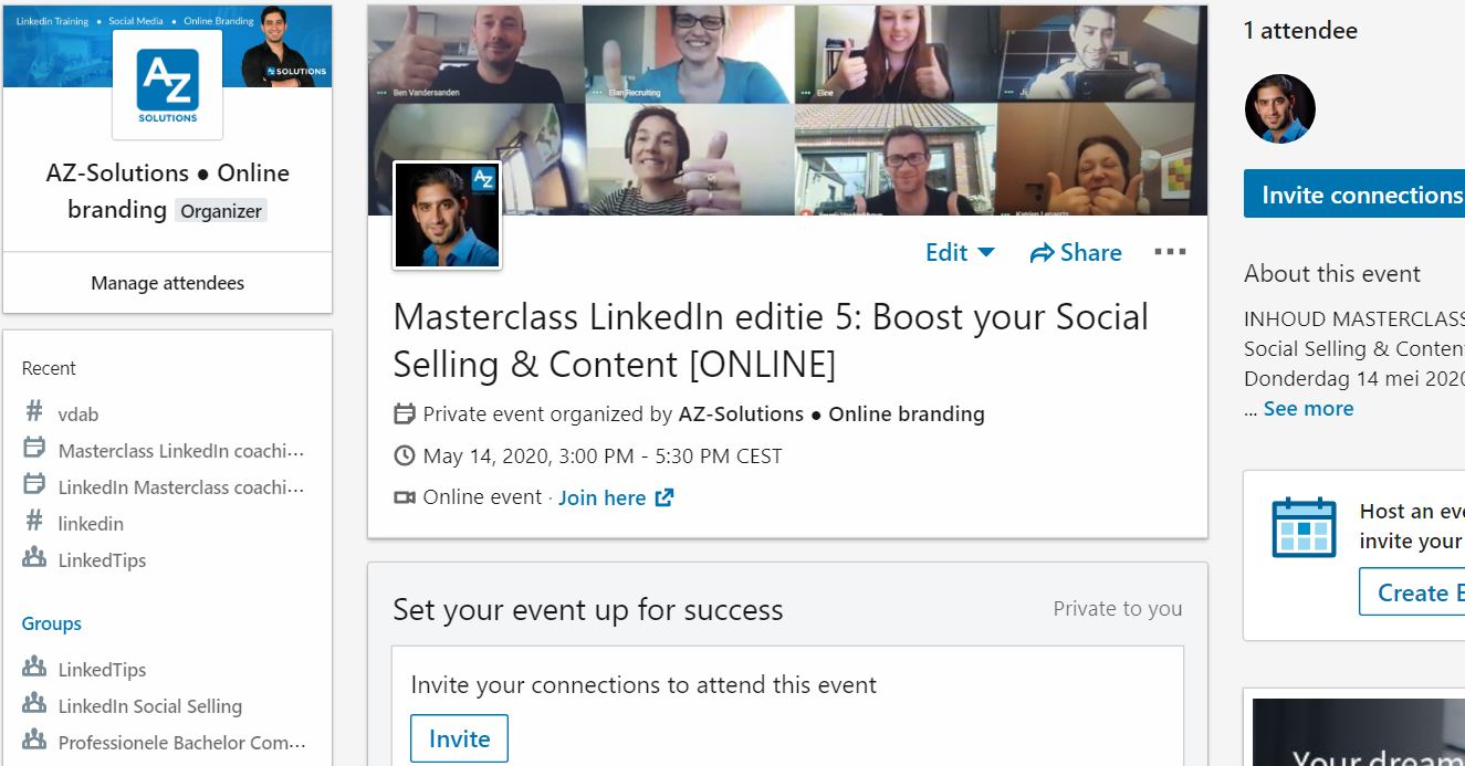 linkedin company events