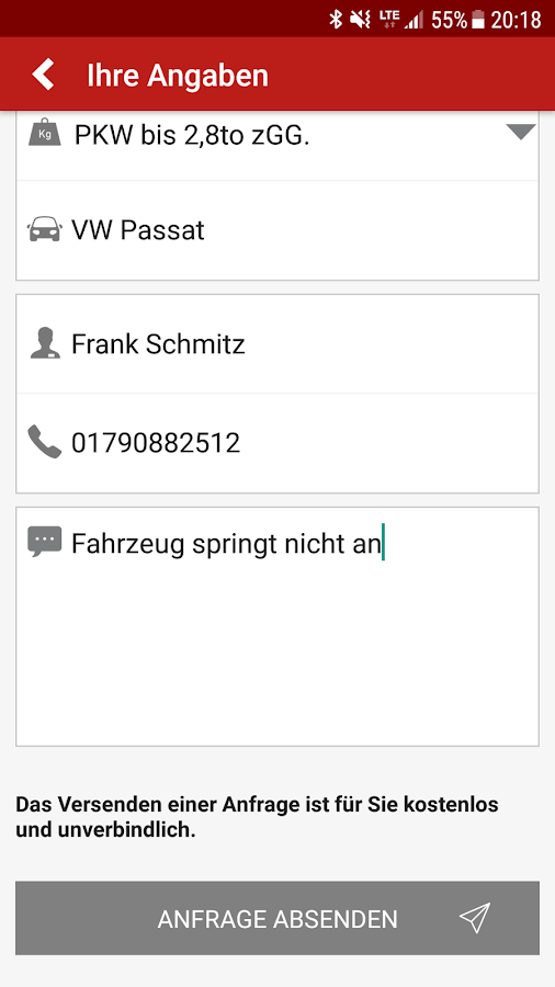 MySchleppApp- screenshot