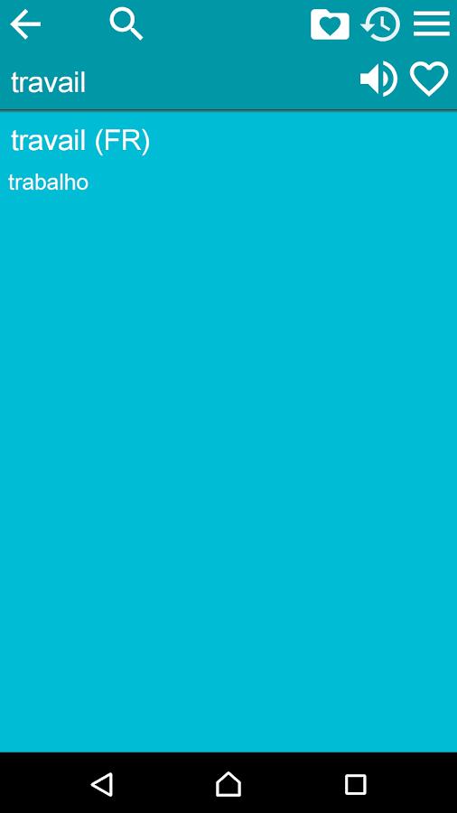 French Braz.Portuguese Dict- screenshot
