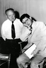 Photo: Hitchcock com Bernard Herrmann