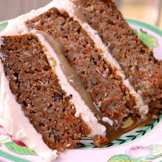 Carrot Cake with Praline Filling and Cream Cheese Frosting Recipe