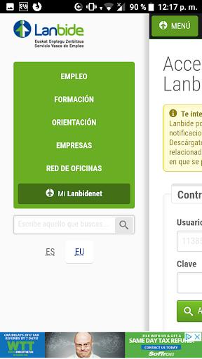 Mi Lanbide screenshot 2