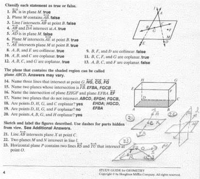 Homework 1 Points Lines And Planes