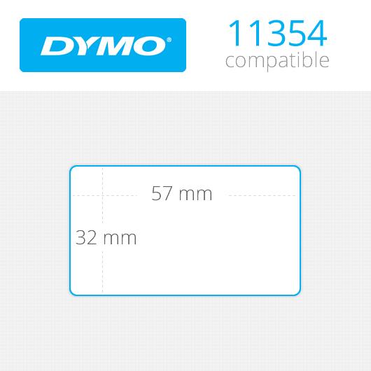 Dymo Labels 32x57mm Κωδ: 11354 Ρολό 1000 ετικέτες