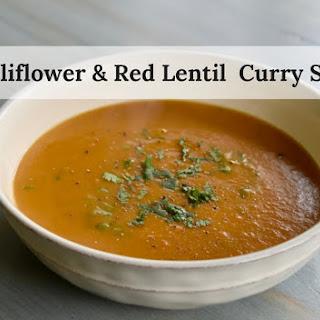 Red Lentil & Cauliflower Curry Soup.