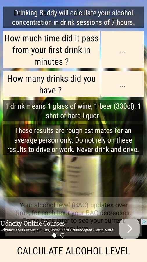 how many shots to get drunk chart