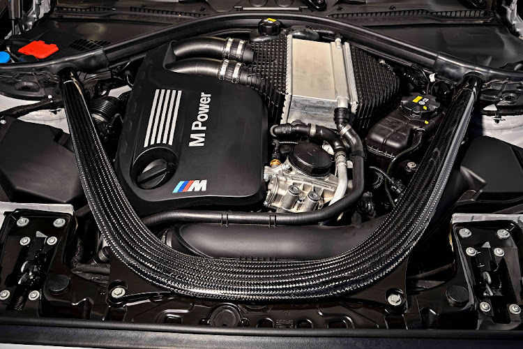 BMW has shoehorned in the engine from the M3/M4 albeit with a few less kilowatts, for now. Picture: BMW