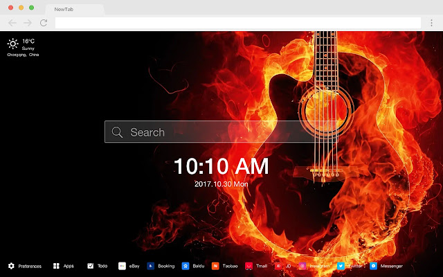 Flame new tab photography HD wallpaper theme