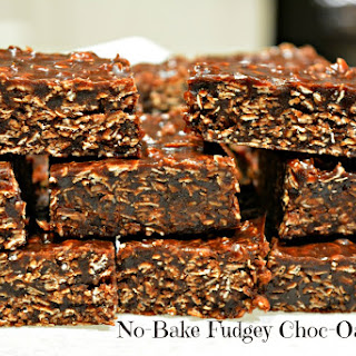 No Bake Fudgey Choc-Oat Slice Recipe