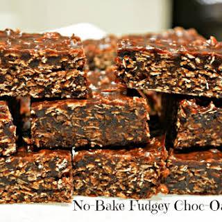 No Bake Fudgey Choc-Oat Slice.