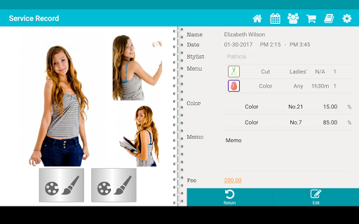 TapStyle for hair salon app (apk) free download for Android/PC/Windows screenshot