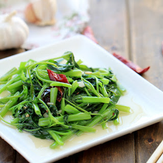 Chinese Water Spinach Stir Fry.