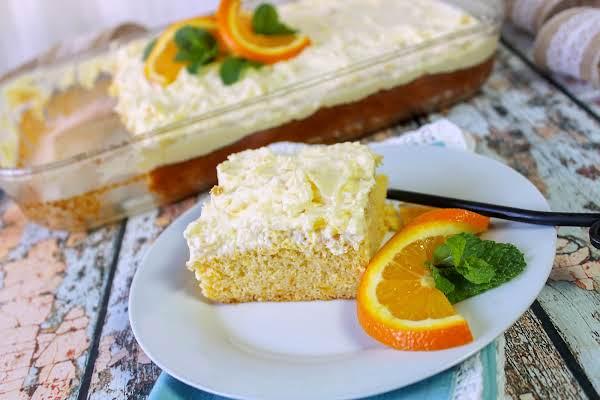 A Slice Of Pineapple-orange Sunshine Cake.