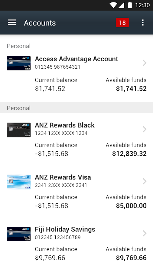 ANZ goMoney Australia- screenshot