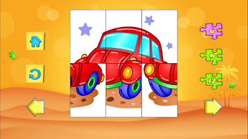 Screenshot of 123 Kids Fun PUZZLE GREEN