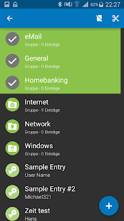 Keepass2Android Capture d'écran