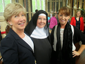 Photo: Eileen and Irene Kavanagh with a REAL nun.