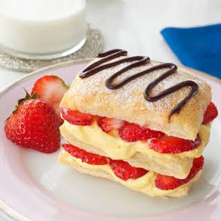 Mini Strawberry Napoleons.