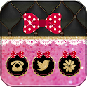 Pink Love Bowknot Theme icon