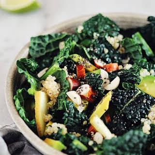 Detoxifying Kale, Apple and Quinoa Salad.